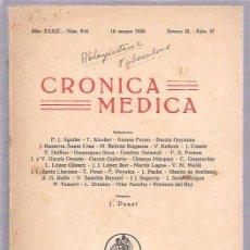 Libros antiguos: CRONICA MEDICA. AÑO XXXIX.- NÚM.816. 15 MARZO 1935. EPOCA III. - NÚM. 87. VALENCIA. Lote 50299252