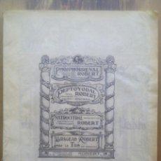 Libros antiguos: ANNALS DE L'HOSPITAL DE LA STA. CREU I S. PAU DE / Nº 1 / BARCELONA 15 GENER 1933. Lote 50451452