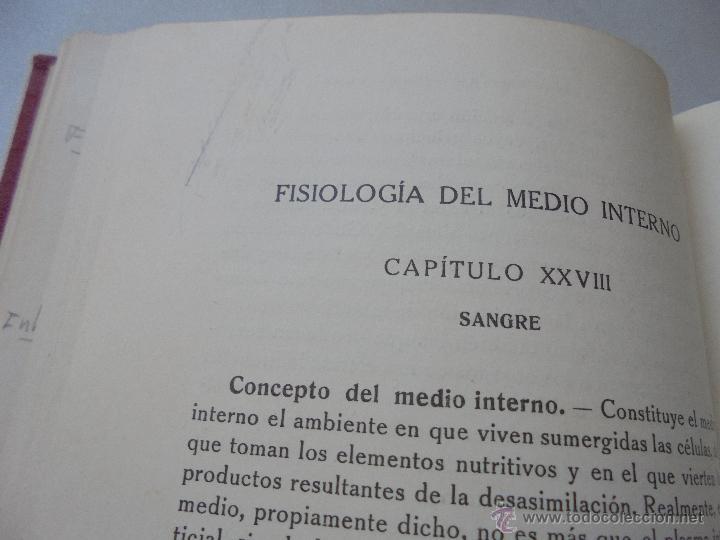 Libros antiguos: ELEMENTOS DE FISIOLOGÍA GENERAL J. MORROS SARDÁ-1931-MADRID-PRÓLOGO: G. MARAÑÓN - Foto 6 - 50518008