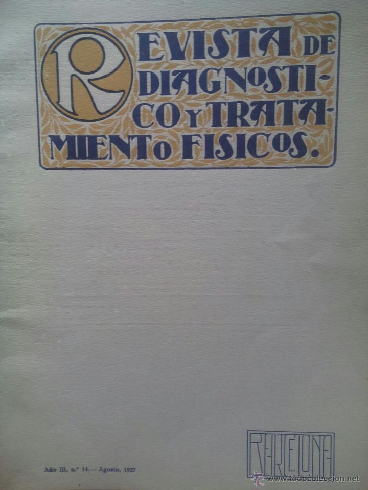 REVISTA DE DIAGNOSTICO Y TRATAMIENTOS FISICOS / Nº 14 / AGOSTO 1927 (Libros Antiguos, Raros y Curiosos - Ciencias, Manuales y Oficios - Medicina, Farmacia y Salud)