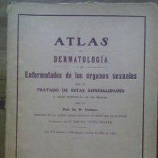 Libros antiguos: ATLAS DE DERMATOLOGÍA Y DE ENFERMEDADES DE LOS ÓRGANOS SEXUALES / DR.FRIEBOES / FASCÍCULO 7. CON UN. Lote 50600793