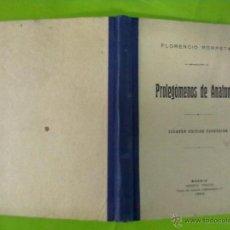 Libros antiguos: FLORENCIO PORPETA PROLEGOMENOS DE ANATOMIA 1925. Lote 50602917