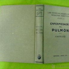 Libros antiguos: A. BACMEISTER ENFERMEDADES DEL PULMON. Lote 50605979