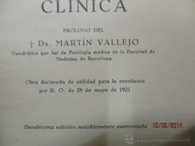 Libros antiguos: EXPLORACIÓN CLÍNICA PRÁCTICA ·· DR. NOGUER Y MOLINS - ED. CIENTIFICO MÉDICA - Foto 3 - 51194497