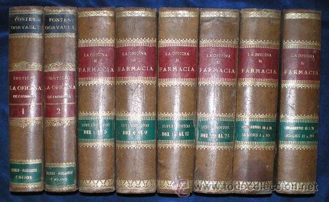 DORVAULT, MR. DE: LA OFICINA DE FARMACIA (BOTICA) + SUPLEMENTOS + INDICES. 8 VOLS. 1880-1905 (Libros Antiguos, Raros y Curiosos - Ciencias, Manuales y Oficios - Medicina, Farmacia y Salud)
