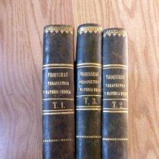 Libros antiguos: TRATADO DE TERAPEUTICA Y MATERIA MEDICA A. TROUSSEAU Y E. PIDOUR 1841-42 3 TOMOS. Lote 52467121