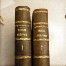 Libros antiguos: MANUAL ICONOGRAFICO DE MEDICINA OPERATORIA 1865 2 TOMOS. Lote 52584697