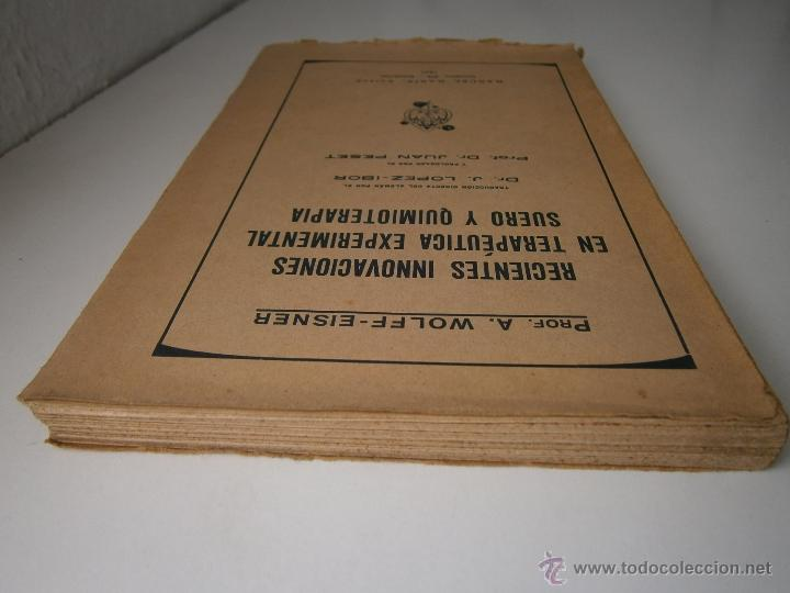 Libros antiguos: Recientes innovaciones en terapeutica experimental suero y quimioterapia Wolff Eisner 1932 - Foto 6 - 52828388