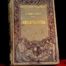 Libros antiguos: NEUROLOGÍA, KNUD H. KRABBE, 1929. Lote 53162290