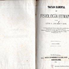 Libros antiguos: . LIBRO TRATADO ELEMENTAL DE FISIOLOGIA HUMANA TOMO II DEL DOCTOR JUAN MAGAZ Y JAIME. Lote 53229602