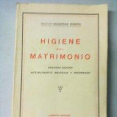 Libros antiguos: DOCTOR MASERAS RIBERA HIGIENE DEL MATRIMONIO 1933. Lote 53304133