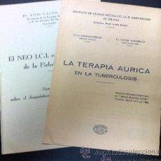 Libros antiguos: AÑO 1932.- LOTE DE DOS ESTUDIOS MÉDICOS. DR. LUIS CALVO NIETO Y PROF. LUIS ZOYA. Lote 30527572
