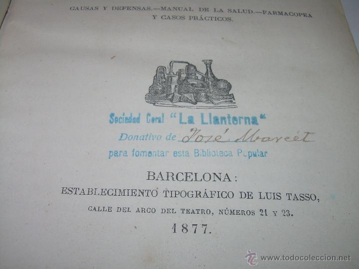 Libros antiguos: BIBLIOTECA RASPAIL..MEDICINA - FARMACIA....FARMACOPEA Y CASOS MEDICO QUIRURGICOS...AÑO 1.876 - 1.877 - Foto 5 - 53665964