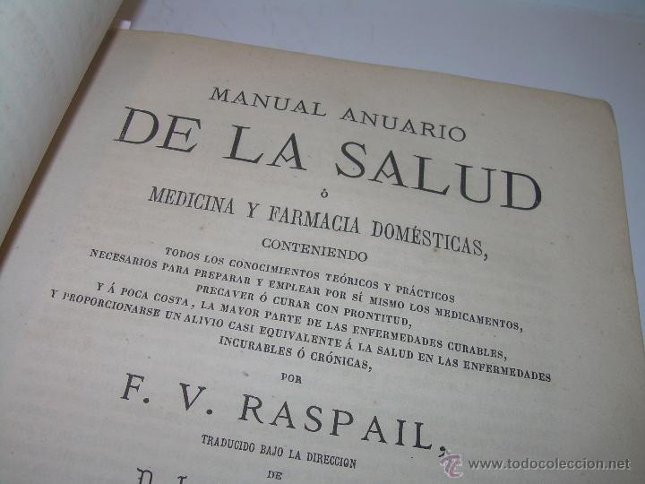 Libros antiguos: BIBLIOTECA RASPAIL..MEDICINA - FARMACIA....FARMACOPEA Y CASOS MEDICO QUIRURGICOS...AÑO 1.876 - 1.877 - Foto 6 - 53665964
