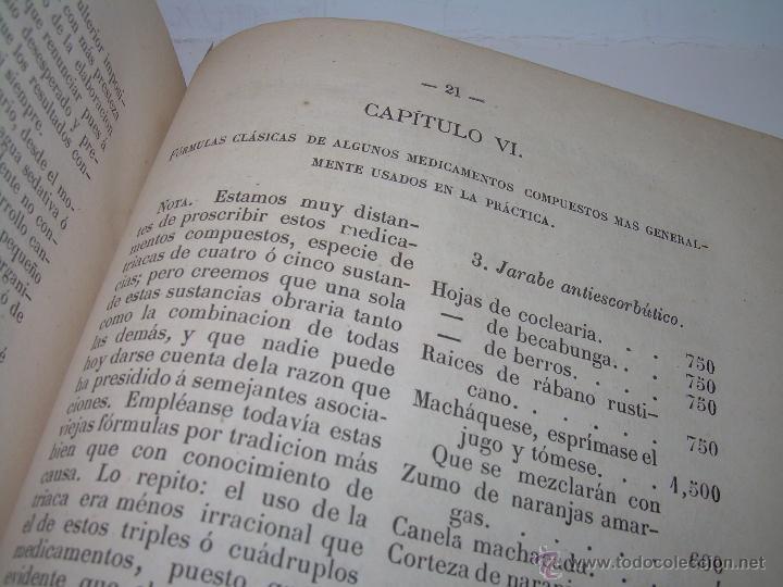 Libros antiguos: BIBLIOTECA RASPAIL..MEDICINA - FARMACIA....FARMACOPEA Y CASOS MEDICO QUIRURGICOS...AÑO 1.876 - 1.877 - Foto 11 - 53665964