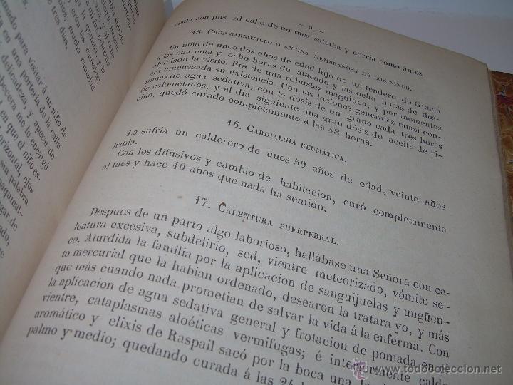 Libros antiguos: BIBLIOTECA RASPAIL..MEDICINA - FARMACIA....FARMACOPEA Y CASOS MEDICO QUIRURGICOS...AÑO 1.876 - 1.877 - Foto 13 - 53665964