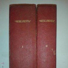 Libros antiguos: MEDICAMENTA GUÍA TEÓRICO PRÁCTICA FARMACÉUTICOS, MÉDICOS Y VETERINARIOS TOMOS I Y II 1936 LABOR. Lote 53698662