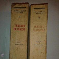 Libros antiguos: TRATADO DE HIGIENE TOMO I Y TOMO II 1936 ANTONIO SALVAT Y NAVARRO 3º EDICIÓN MANUEL MARÍN . Lote 53699191
