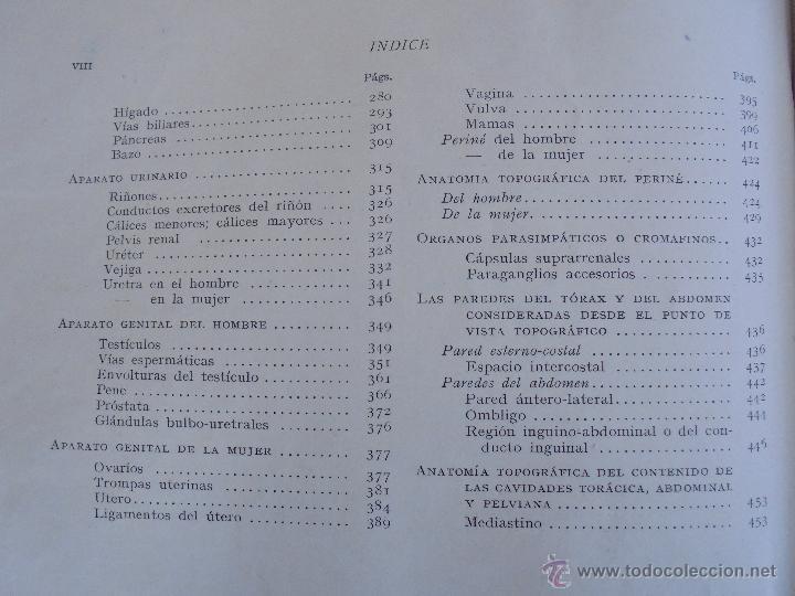 Libros antiguos: ANATOMIA HUMANA DESCRIPTIVA Y TOPOGRAFICA. H. ROUVIERE. TOMO I Y II. DEDICADO Y FIRMADO POR EL AUTOR - Foto 28 - 54045972
