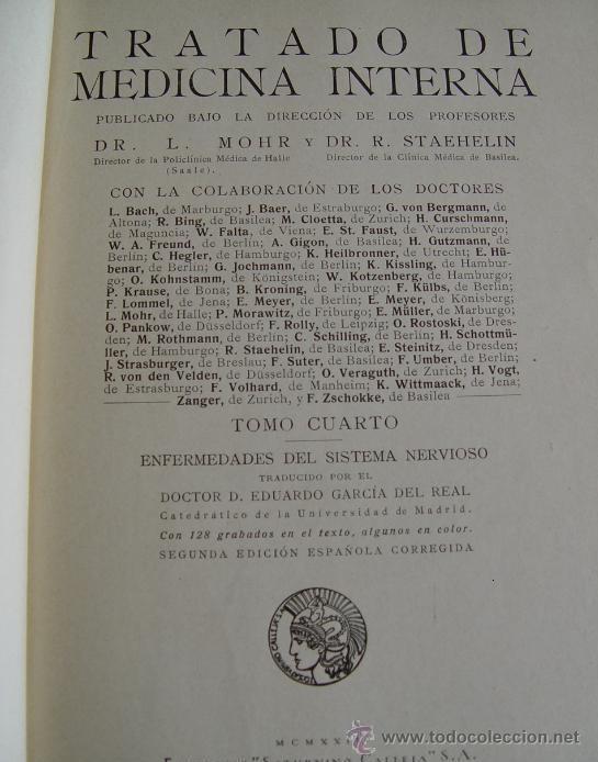 Libros antiguos: Tratado de Medicina Interna (Mohr / Staehelin) - 15 Tomos,Saturnino Calleja 1922 - Obra Completa - - Foto 5 - 54136170