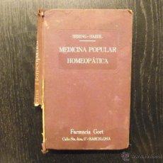 Libros antiguos: MEDICINA POPULAR HOMEOPATICA, HERING HAEHL. Lote 54531060