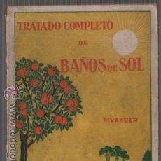 Libros antiguos: LIBRO DEL DR. VANDER - TARTADO COMPLETO DE BAÑOS DEL SOL - 53 GRABADOS . Lote 54564201
