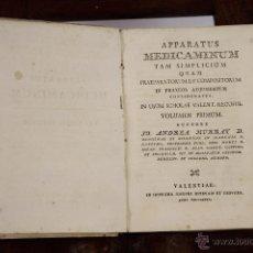 Libros antiguos: 5806 - APPARATUS MEDICAMINUM. ANDREA MURRAY. EDI. JOSEPHI ESTEVAN ET CERVERA. VOL.I. 1790.. Lote 48629337
