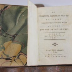 Libros antiguos: 5814 - DE CURANDIS HOMINUM MORBIS. JOANNE PETRO FRANK.TIP.VITARELLI. III VOL. 1805.. Lote 48642189