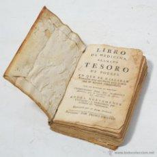Libros antiguos: LIBRO SIGLO XVIII TESORO DE POBRES. Lote 54997076