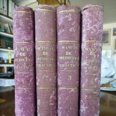 Libros antiguos: MANUAL DE MEDICINA PRACTICA FUNDADO POR CRIST GUILLERMO HUFELAND 4 TOMOS 1839. Lote 55115012