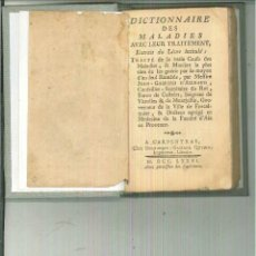 Libros antiguos: DICTIONNAIRE DES MALADIES AVEC LEUR TRAITEMENT. Lote 55168418