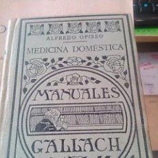 Libros antiguos: MEDICINA DOMÉSTICA (MADRID, 1927). Lote 55333115