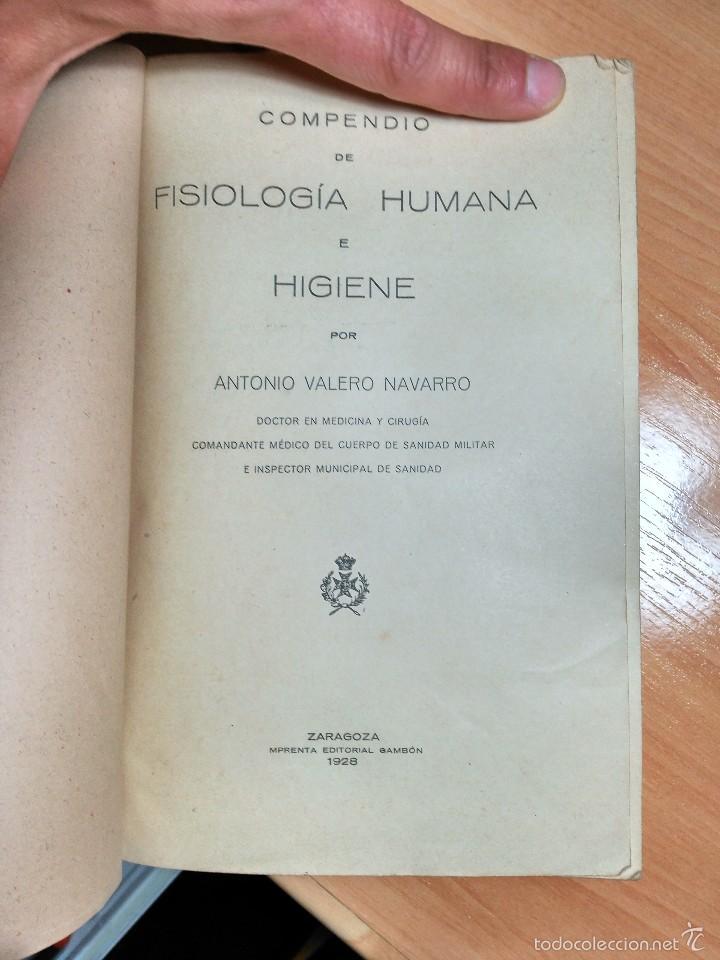 Libros antiguos: LIBRO MEDICINA MILITAR 1928: FISIOLOGÍA HUMANA E HIGIENE GENERAL Y MILITAR. ANTONIO VALERO NAVARRO. - Foto 2 - 121165931