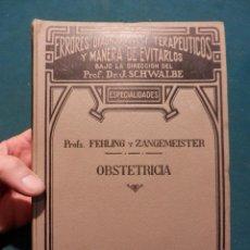 Libros antiguos: OBSTETRICIA - PUERPERIO, EMBARAZO-PARTO (ERRORES DIAGNÓSTICOS Y TERAPÉUTICOS...) AÑO 1924. Lote 55619544