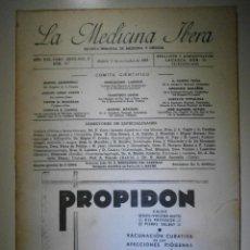 Libros antiguos: LA MEDICINA ÍBERA - REVISTA DE MEDICINA Y CIRUGÍA - AÑOS 20 Y 30 - NUM. 816 - 1 DE JULIO DE 1933. Lote 213409591