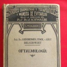 Libros antiguos: ERRORES DIAGNOSTICOS Y TERAPEUTICOS Y MANERA DE EVITAROS.PROF.DR.J.SCHWALBE. Lote 56034433