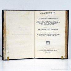 Libros antiguos: COMPENDIO SOBRE LAS ENFERMEDADES VENÉREAS. DR. JUAN FEDERICO FRITZE. MADRID IMPRENTA REAL 1796. Lote 56252081
