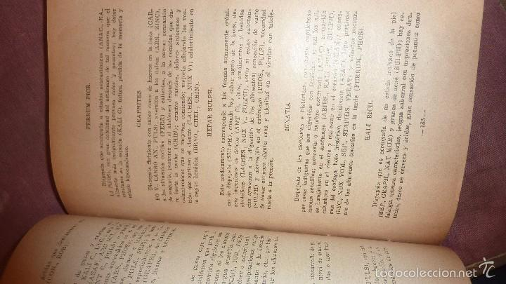 Libros antiguos: libro manual de materia medica homeopatica comparada . homeopatia m. mendez . mexico 1928 - Foto 4 - 56331443