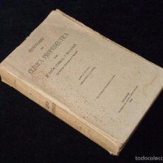 Libros antiguos: PRONTUARIO DE CLÍNICA PROPEDÉUTICA. LEÓN CORRAL. 5ª ED. ANDRES MARTÍN 1922. Lote 56475216