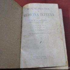 Libros antiguos: MANUAL PRACTICO DE MEDICINA INTERNA - DR. VON DAMARUS - EDITORIAL MARIN 1937. Lote 56935999