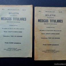 Libros antiguos: 2 BOLETINES ( 1907 ) ASOCIACION DE MEDICOS TITULARES / MADRID / PUBLICIDAD - NOTICIAS - VACANTES. Lote 57329129