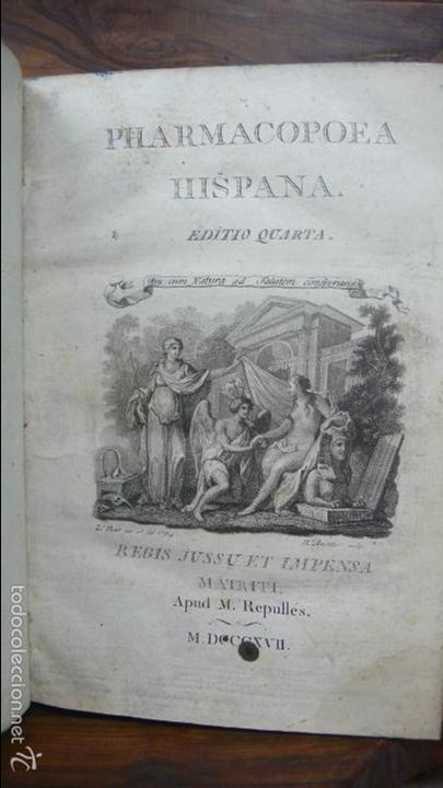 Libros antiguos: PHARMACOPOEA HISPANA. 1817. - Foto 1 - 71154686