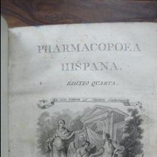 Libros antiguos: PHARMACOPOEA HISPANA. 1817.. Lote 71154686