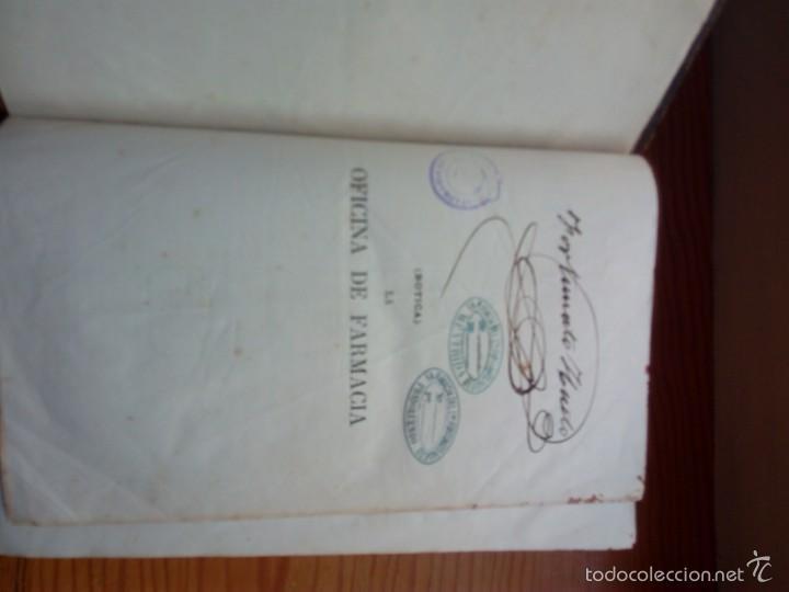 Libros antiguos: DORVAULT, BOTICA LA OFICINA DE FARMACIA.PRIMERA EDICION. - Foto 5 - 57719017
