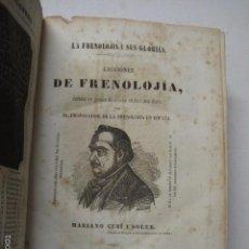 Libros antiguos: LECCIONES DE FRENOLOJIA - MARIANO CUBI -BARCELONA 1853- 1857 -ILUSTRADO GRABADOS-VER FOTOS - (XL-42). Lote 57733943
