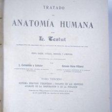 Libros antiguos: MEDICINA. TRATADO DE ANATOMIA HUMANA POR L. TESTUT. 5ªED. TOMO 3ºSALVAT EDIT.. Lote 57910720