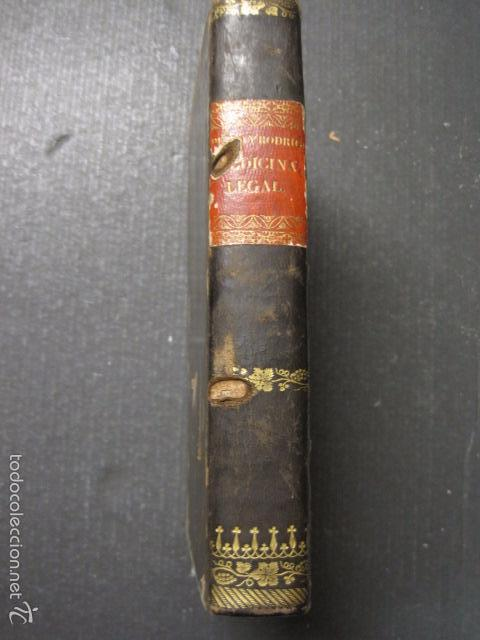 Libros antiguos: ELEMENTOS DE MEDICINA Y CIRUJIA LEGAL-PEIRO RODRIGO-ZARAGOZA AÑO 1832-DESPLEGABLES-VER FOTOS-(XL-50) - Foto 5 - 58191781