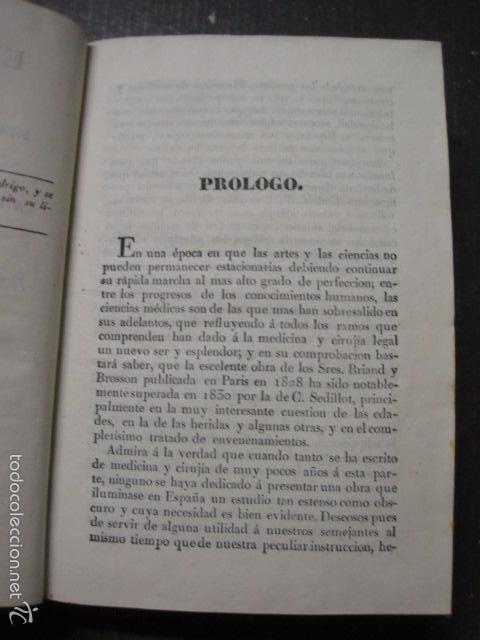 Libros antiguos: ELEMENTOS DE MEDICINA Y CIRUJIA LEGAL-PEIRO RODRIGO-ZARAGOZA AÑO 1832-DESPLEGABLES-VER FOTOS-(XL-50) - Foto 7 - 58191781
