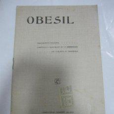 Libros antiguos: OBESIL. TRATAMIENTO RACIONAL DE LA OBESIDAD. MADRID. 24 PAGINAS. 13 X 21CM. Lote 58479001