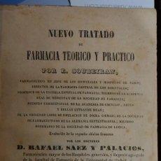 Libros antiguos: RARO TOMO 3º DE NUEVO TRATADO DE FARMACIA E.SOUBEIRAN . IGNACIO BOIX EDITOR MADRID 1846. Lote 58518656